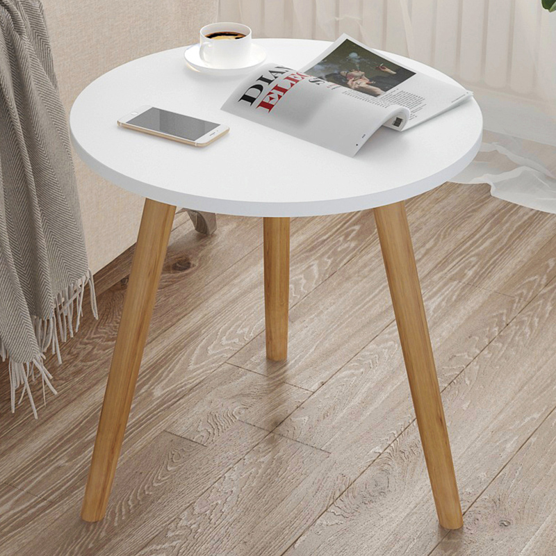 Simple Modern Balcony Small Coffee Table Living Room Small Apartment Sofa Side Table Simple Home Bedroom Small Round Table WF102