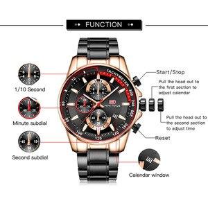 Image 3 - ミニフォーカスファッションブルー腕時計メンズクォーツ時計スポーツメンズ腕時計トップブランドの高級ビジネス全鋼のストラップレロジオmasculino
