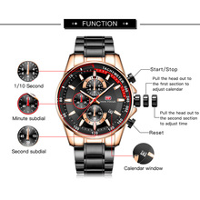2020  MINI FOCUS  Luxury Business Full Steel Strap relogio masculino