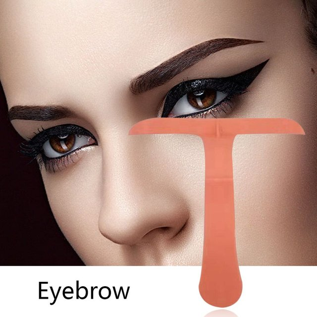 T-shape Eyebrows Shaping Thrush Card DIY Hollow Threading Artifact Thrush Aid Card Easy Makeup Eyebrow Template