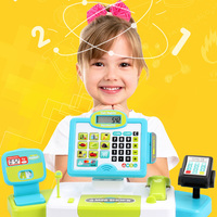 Electronic Supermarket Cash Register Kits Kids Toy Simulated Checkout Counter Role Pretend Play Cashier Shopping Toys
