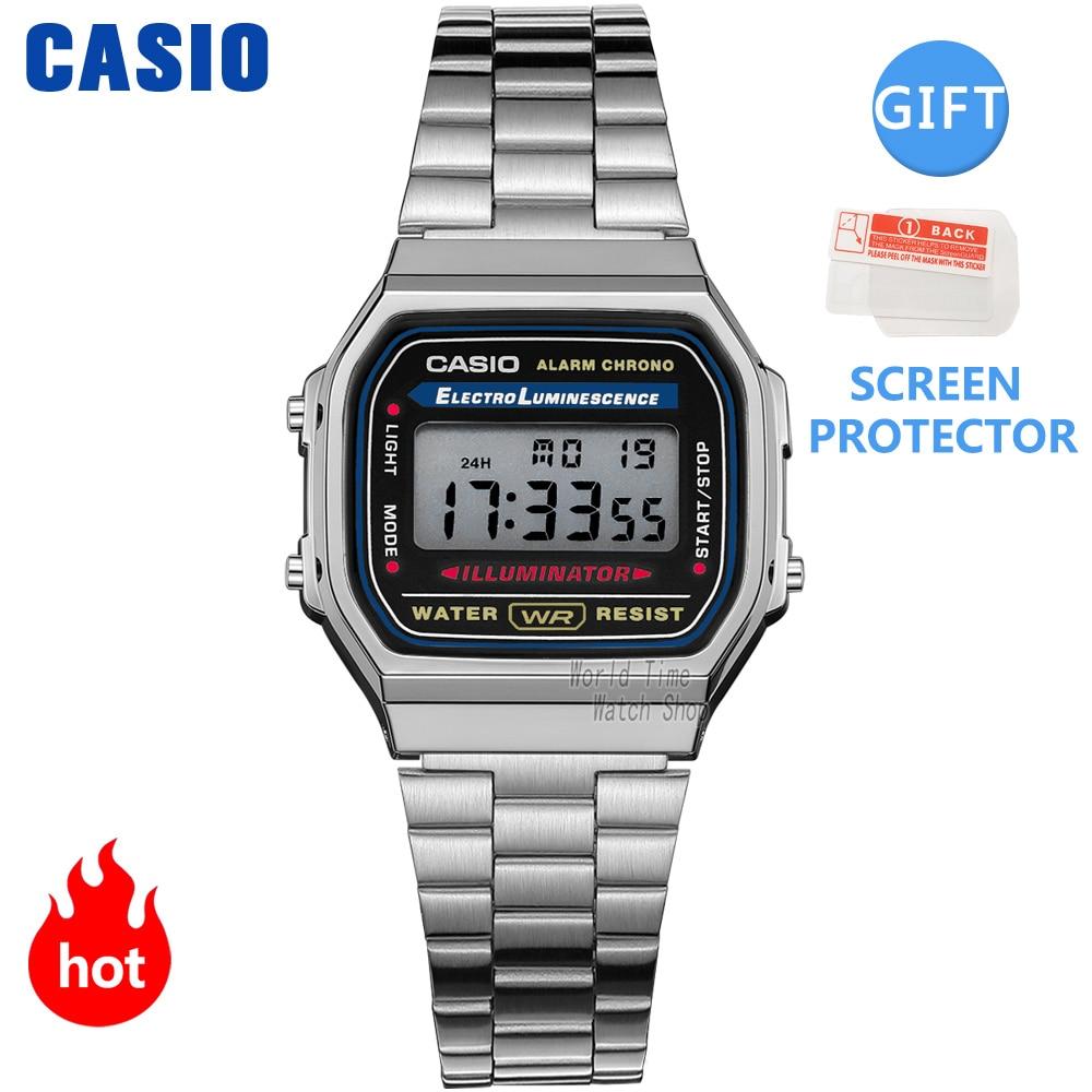 Casio watch silver watch men set brand luxury LED digital Waterproof Quartz men watch Sport military Wrist Watch relogio masculi Quartz Watches  - AliExpress