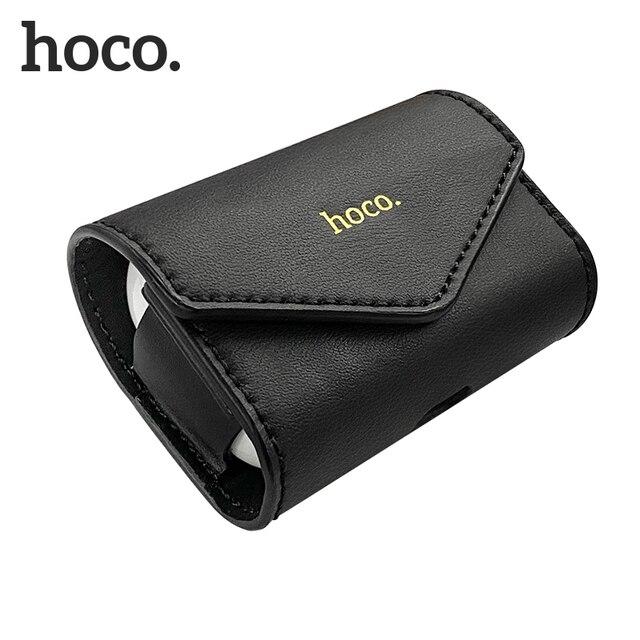 HOCO étui pour écouteurs pour Airpods Pro housse de protection en cuir souple avec crochet Anti-perte de sangle pour Apple écouteurs boîte accessoires