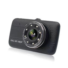 Full HD 1080P 4 Inch IPS Screen Car DVR Camera Auto Video Recorder 170 Degree Wide Angle Dual Lens Dash Cam Night Vision DVR(China)