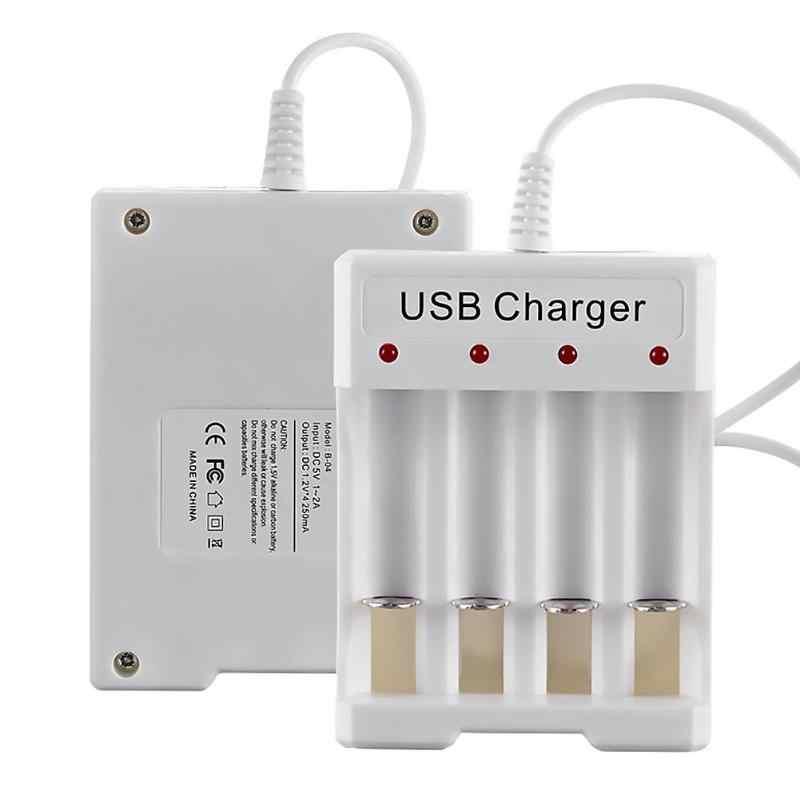 Multi-funktion 4 Steckplätze Intelligente Batterie Ladegerät Tragen Widerstand Licht Gewicht Sicherheit AA AAA Wiederaufladbare DC 5V Batterie ladegerät