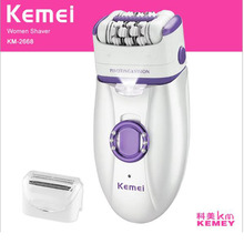 kemei lady epilator with shaving head KM-2668 electric epilator 2 in 1 electric shaver