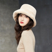 Зимняя шапка из искусственного меха норки, мягкая утолщенная теплая Женская шапка, чистый искусственный мех кролика, лыжная шапка для рыбалки, уличная Снежная Панама