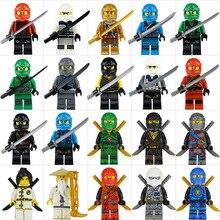 20 шт совместимые Legoing Ninjago Мини Фигурки игрушки для детей новые Legoing Ninja Go Ninjago фигурки juguetes brinquedos