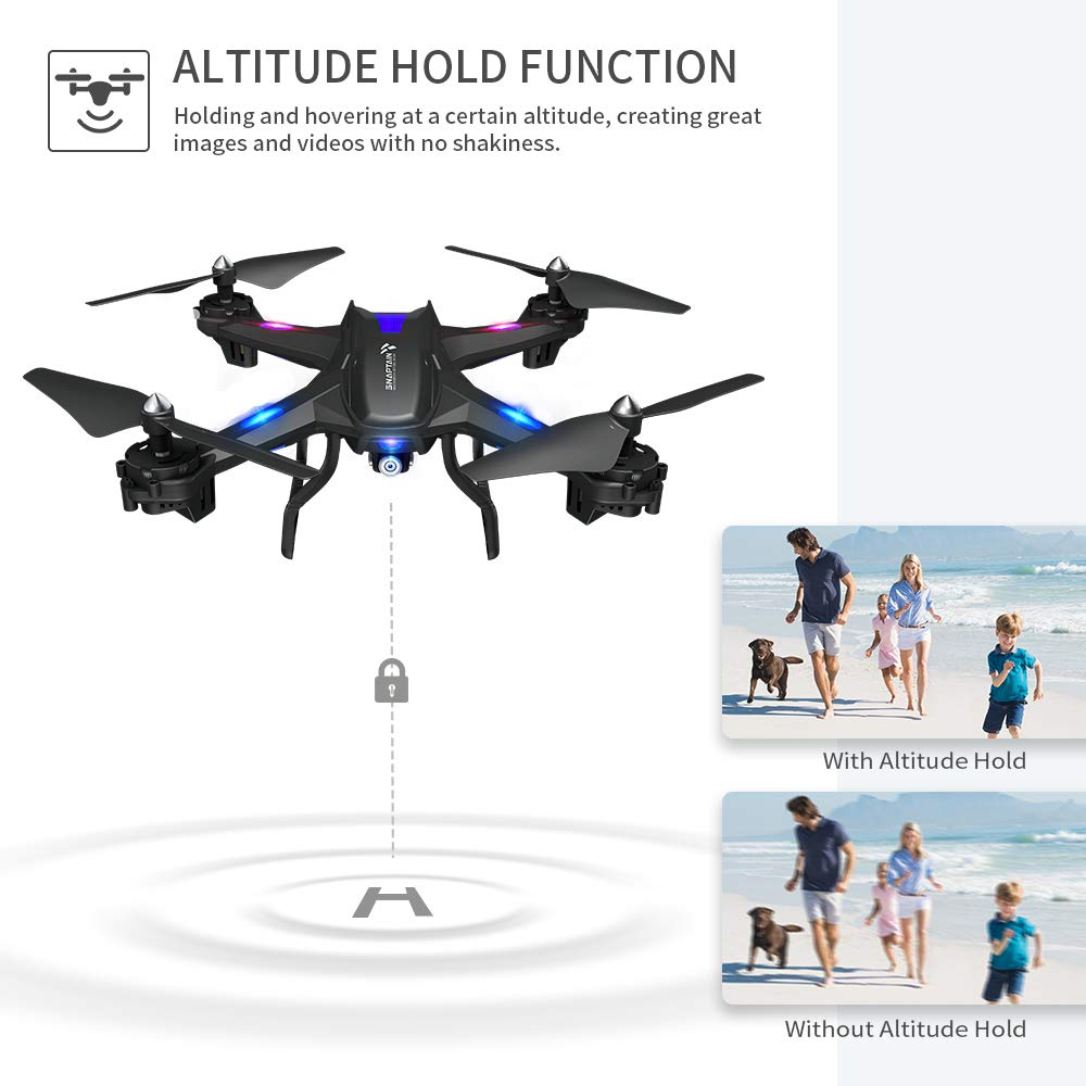 cheapest SNAPTAIN 720P HD Drone WiFi FPV Voice Control Gravity Sensor Function RTF One Key Take Off Landing Wide-Angle Live Video