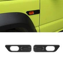 Luz de señal de giro para guardabarros de Suzuki Jimny, accesorios exteriores de coche, ABS, fibra de carbono, cromo, 2019, 2020, 2021, JB64, JB74