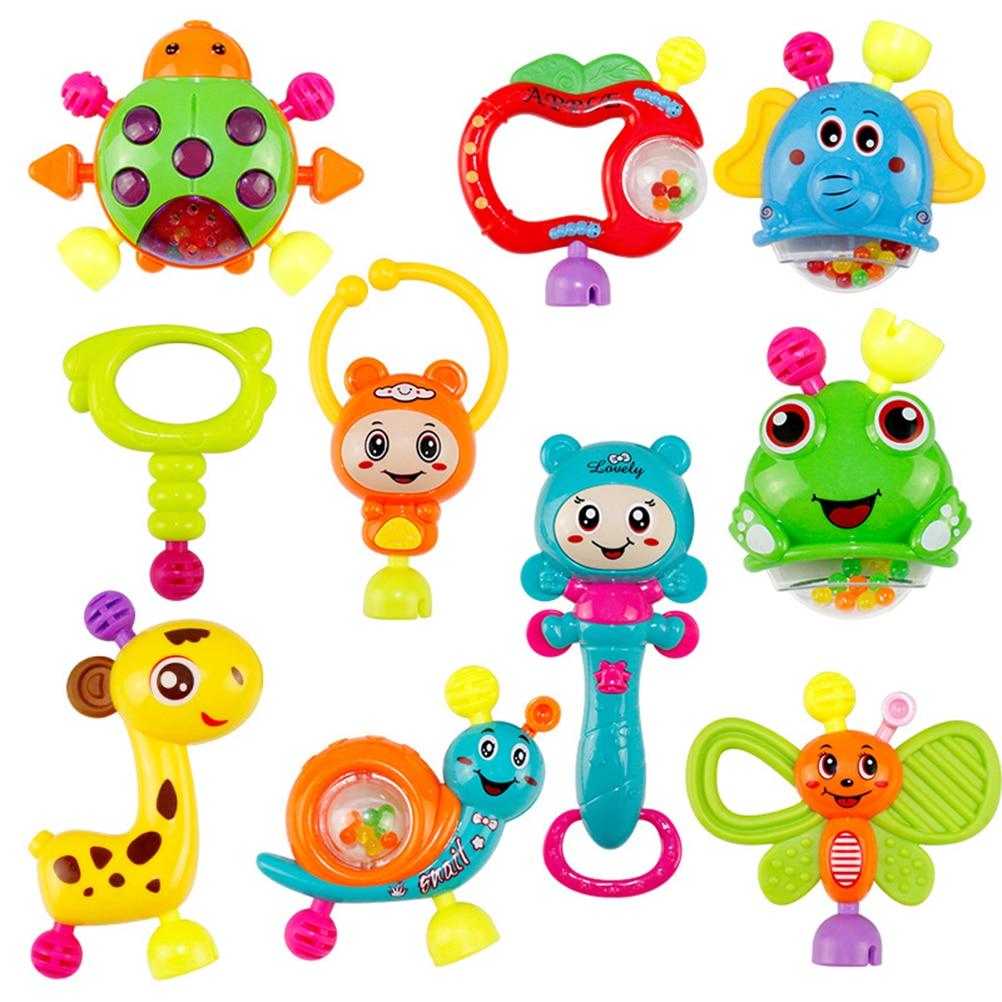 10 шт., детская развивающая игрушка погремушка|Интерактивные игрушки для малышей|   | АлиЭкспресс