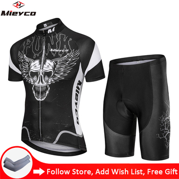Mieyco negro cráneo diseños Uniformes De Ciclismo Para Hombre especializados ropa De...