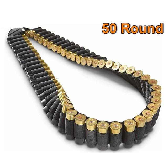 50 Shotgun Shell Bandolier Belt Tactical 140*5cm Cartridge Belt Airsoft Bullet Shell Holder Hunting 12 Gauge Ammo Pouch Bag 1