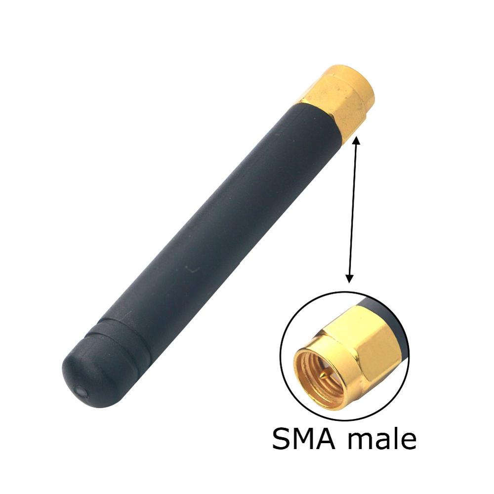 5 Piece/lot 433MHZ Rubber 2-3dbi Gains 433 Mhz Antenna With SMA Male Plug Straight Connector Free Shipping