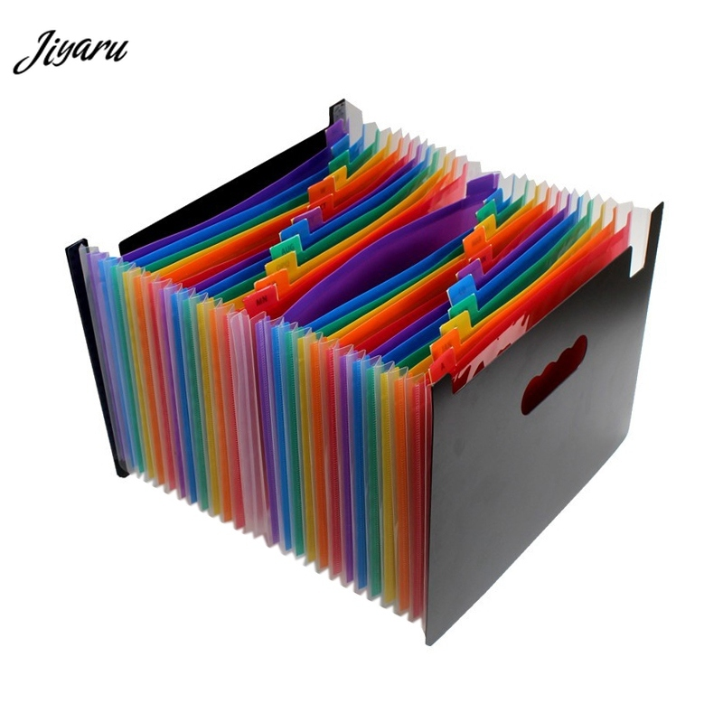 New Expanding File Folder Files Organizers Portable Plastic Briefcase Folders Documents A4 Organizer Portable Briefcases