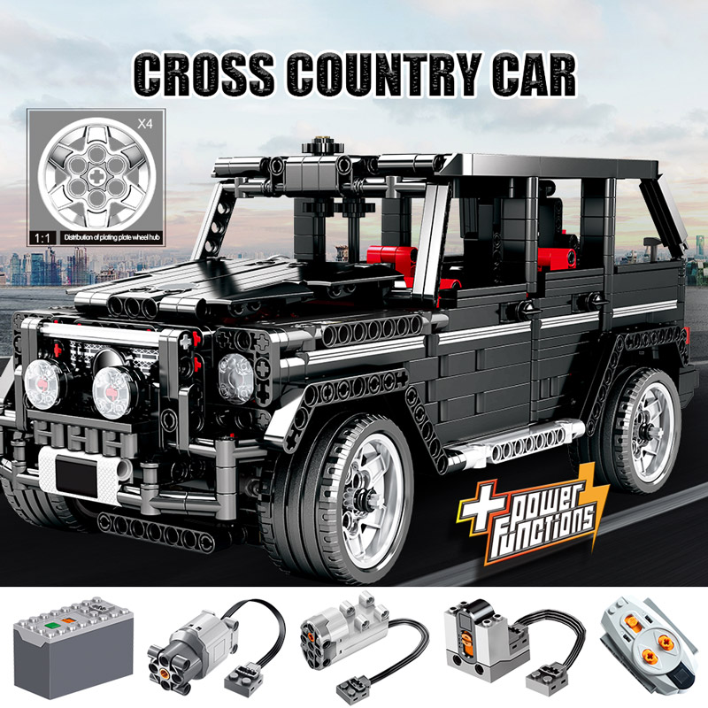 1388pcs Creator Diy SUV Cross Country Car Building Blocks Legoingly Technic City RC Car AWD Vehicle Bricks Toys For Children 2