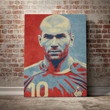 Zidane hopestyle arte do trabalho design cartaz da lona parede arte decoração impressões para sala de estar crianças quarto casa decoração