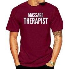 2021 T-shirt de algodão Massagem Therapsittrabalho Usar escritório Industrial Uniforme T Topestilo masculinoalgodão clássico T