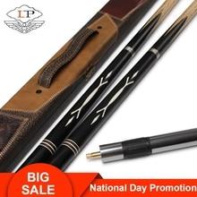 LP Billiar Dominator Snooker Cue 3/4 Split 9.8-10mm Tip Professional Ashwood Shaft Ebony Butt with Metal Stretchable Extension