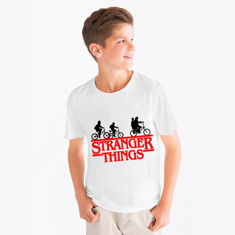 Camiseta Stranger Things <font><b>tshirt</b></font> Kid Boys Girls T-shirts Printed O-neck T Shirt <font><b>Baby</b></font> Kids Clothes Casual Tee Short Sleeve Tops image