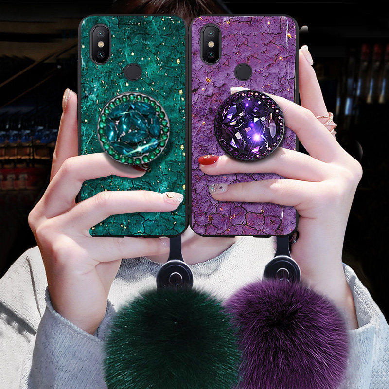 Luxury Glitter Case For Xiaomi Redmi Note 8 8T 4A 4X 5 5A 6 6A 6Pro 7 7A 8 8A K20 Pro Y1 Y2 Y3 S2 Go Silicon Marble Holder Cover