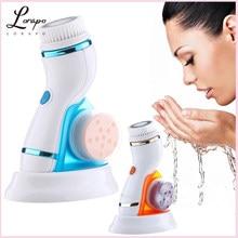 Rosto elétrico de limpeza rosto rotativo escova de limpeza de silicone usb escova de limpeza facial máquina de cuidados com a pele escova mais limpa