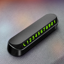 2021 Car Temporary Parking Card Phone Number Plate for Kia Rio K2 K3 Ceed Sportage 3 sorento cerato armrest picanto soul