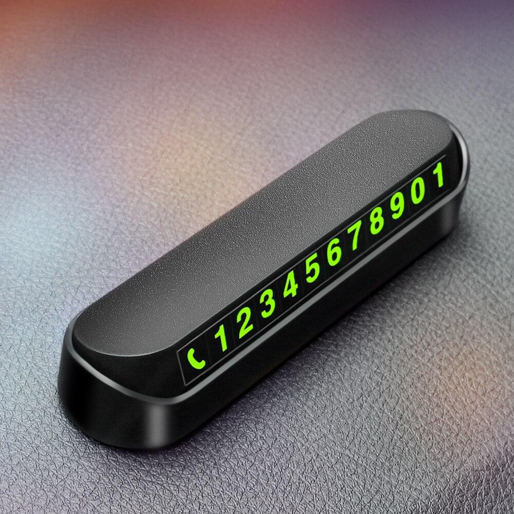 2021 автомобиля карточка с телефоном для временной парковки номерной знак для