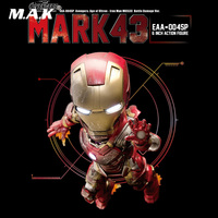 Collectible Full Set 6 inches Iron Man MK43 Doll 16cm Mini Battle Damaged Version Action Figure Model for Fans Gifts