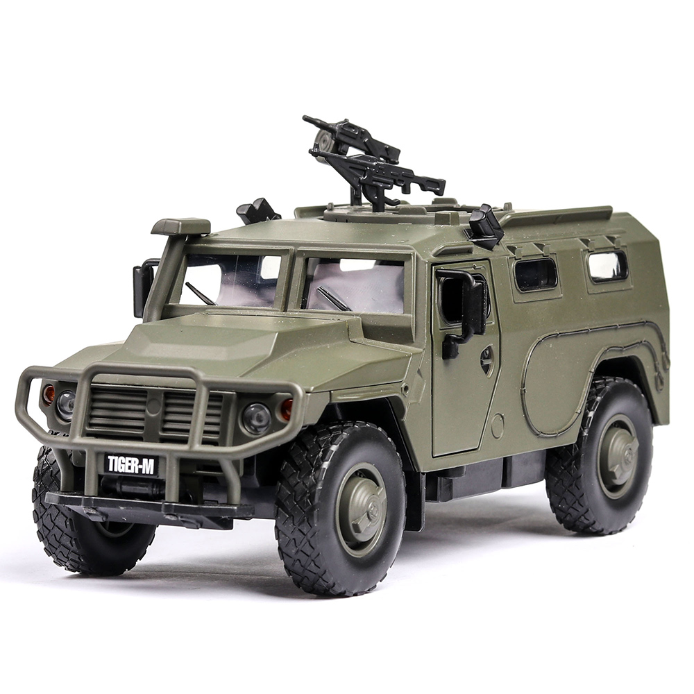 1:32 Russia Tiger-M Explosion Proof Armored Vehicle With Sound And Light High Simulation Alloy Toy Car Model Toy For Metal Model