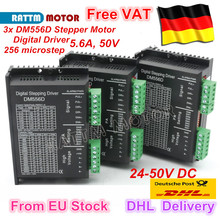 DE Ship 3Pcs DM556D Digital stepper motor driver 5.6A 256 microstep High performance design fit nema17 to nema 23 motor CNC