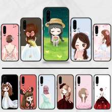 Romantic cartoon flower girl Custom Photo Soft Phone Case Funda For Huawei P9 P10 P20 P30 Lite 2016 2017 2019 plus pro P smart(China)
