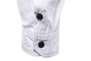 Image 4 - Bello Nero Camicette Uomini Musulmano Camicia di Modo Musulman Blousees Sottile A Maniche Lunghe Cardigan Camicia di Vestito Marocchino Vestiti Islamici