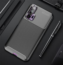 цены на For Huawei Glory20 20Pro Carbon Fiber Silica Case, For Glory 8X 8X max 9x 9x Pro Glory note10 Glory play TPU Anti-falling Case  в интернет-магазинах