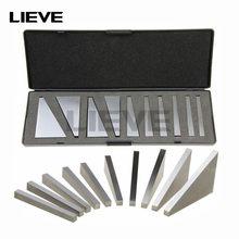 10 pces 1-30 graus de precisão à terra bloco de ângulo durável conjunto com caixa de armazenamento para tornos moagem ferramentas machinista ângulo gage