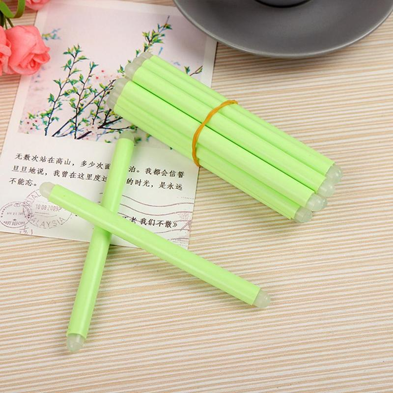 1piece Erasable Stick Rubber Stick Pink Fluorescent Blue Stationery Gifts Light Student Office Children's Green Supplies M7X5