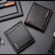 Youpin جديد الكورية الرجال محفظة عادية الأعمال ستيريو متعددة الوظائف الفاخرة نقية بولي Leather الجلود البريطانية للطي بطاقة