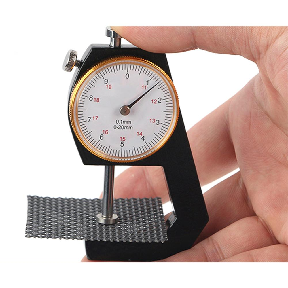 0-10mm Dial Thickness Gauge Leather Paper Thickness Meter Tester For Leather Flim Paper Tool