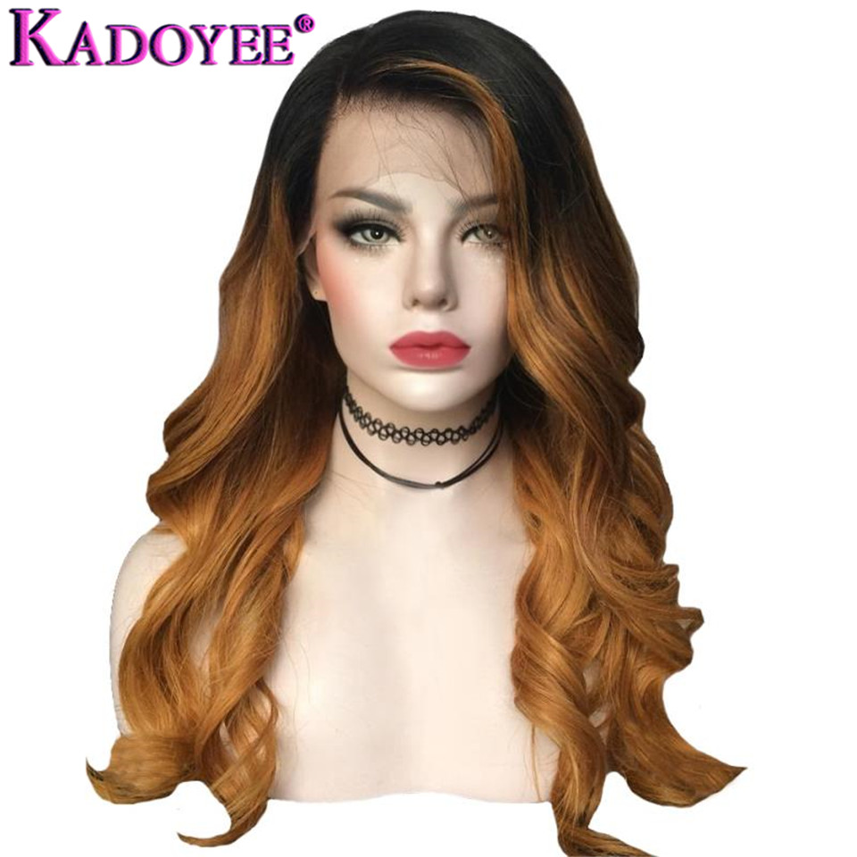 Ombre Human Hair Wigs 13x6 Lace Front Wig Pre-Plucked Brazilian Remy Hair Blonde Body Wave Wig Bleached Knots For Black Women