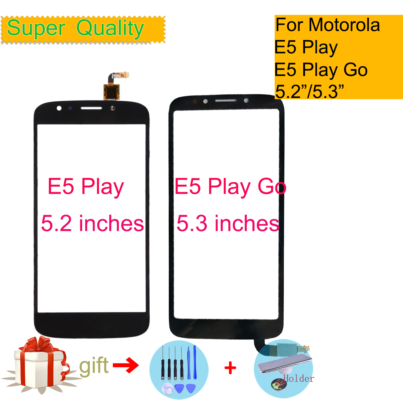 E5 Play/E5 Play Go For Motorola Moto E5 Play XT1920 XT1921 E5 Play Go Touch Screen Digitizer Front Glass Panel Sensor Black