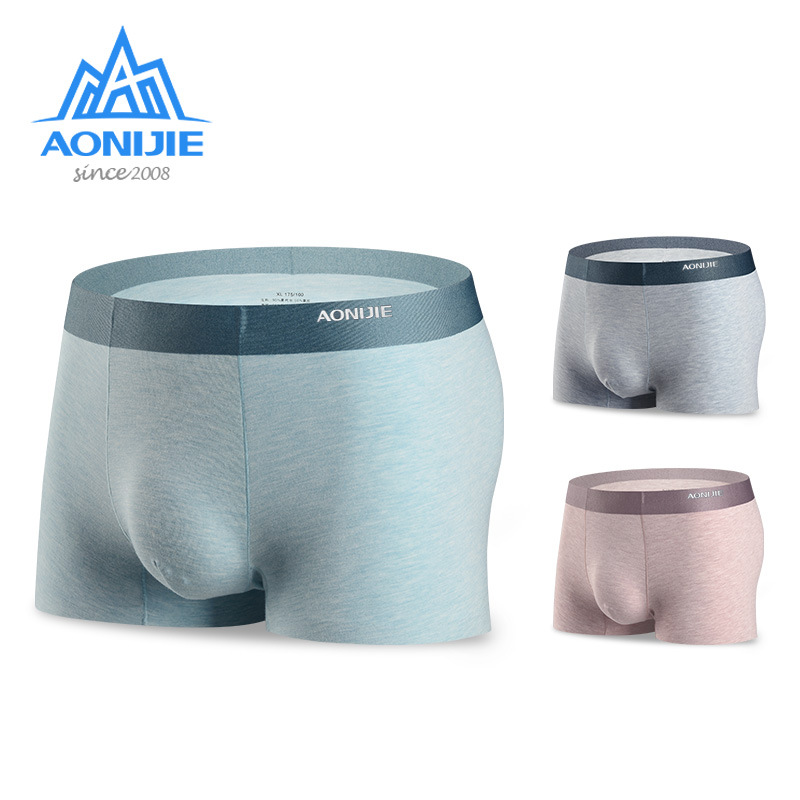 Aonijie 3 Pcs/Set Men Underwear Quick Drying Comfortable Breathable Modal Sports Soft Panties Outdoor Camping Boxer Shorts EF005