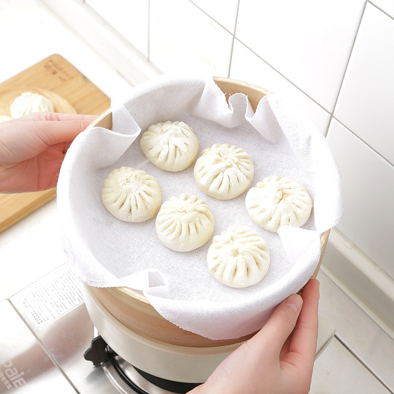 1394 Japanese Pure Cotton Steamer Cloth Longti Cloth Steam Bread Head Cloth Steamed Dumpling You Steamed Stuffed Bun Cloth