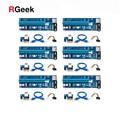 6 stücke USB 3,0 PCI-E pcie Riser Express 1X 4x 8x 16x Extender Riser Adapter Karte SATA 15pin Stecker auf 4pin Power Kabel райзер