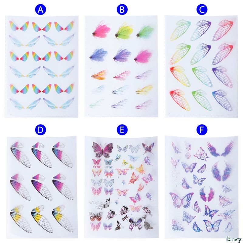 Filling Material Butterfly DIY Epoxy Resin Crafts Filler Jewelry Making Handmade 3D Colorful Insect Dragonfly Decoration