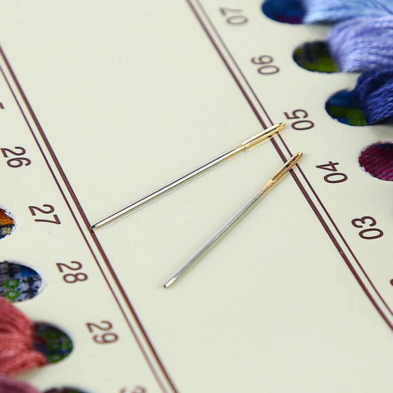 โรแมนติกเดินฝนCross Stitchชุดพิมพ์ผ้าเย็บปักถักร้อยชุด11CT 14CT DIY Handmade Homeตกแต่ง