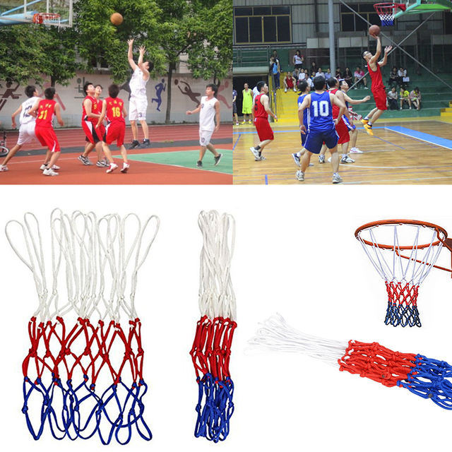 Nylon Three Color Basketball Mesh Universal Basketball Net Replacement