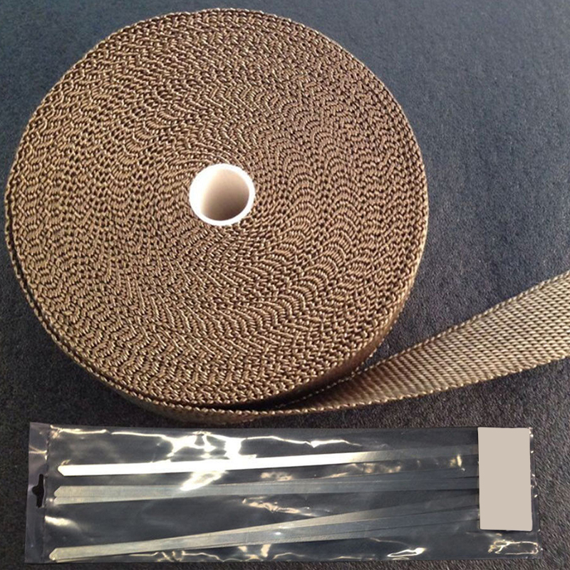 15M Heat Insulation Cloth Basalt Fiber Exhaust Header Heat Wrap Roll with Stainless Ties Kit|Exhaust & Exhaust Systems| |  - title=