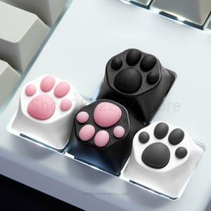 Image 2 - אישיות מותאם אישית ABS סיליקון קיטי Paw Artisan חתול כפות כרית מקלדת keyCaps עבור דובדבן MX מתגים