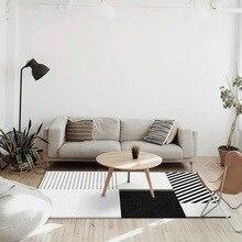 Modern geometry 3D ethnic wind carpet bedroom living room crystal velvet Printed digital crawling mat Non-slip foyer home