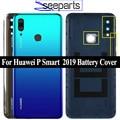 Оригинальная задняя крышка для Huawei P Smart 2019, задняя крышка для телефона, задние Стеклянные детали